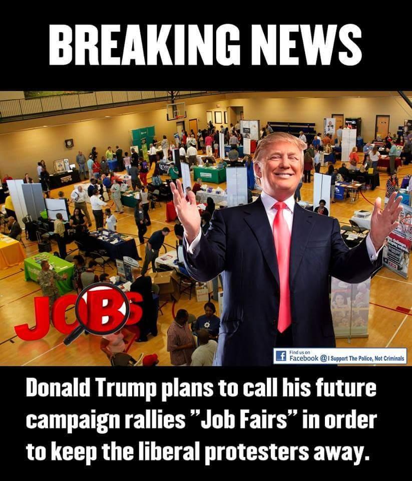 trump rally job fair