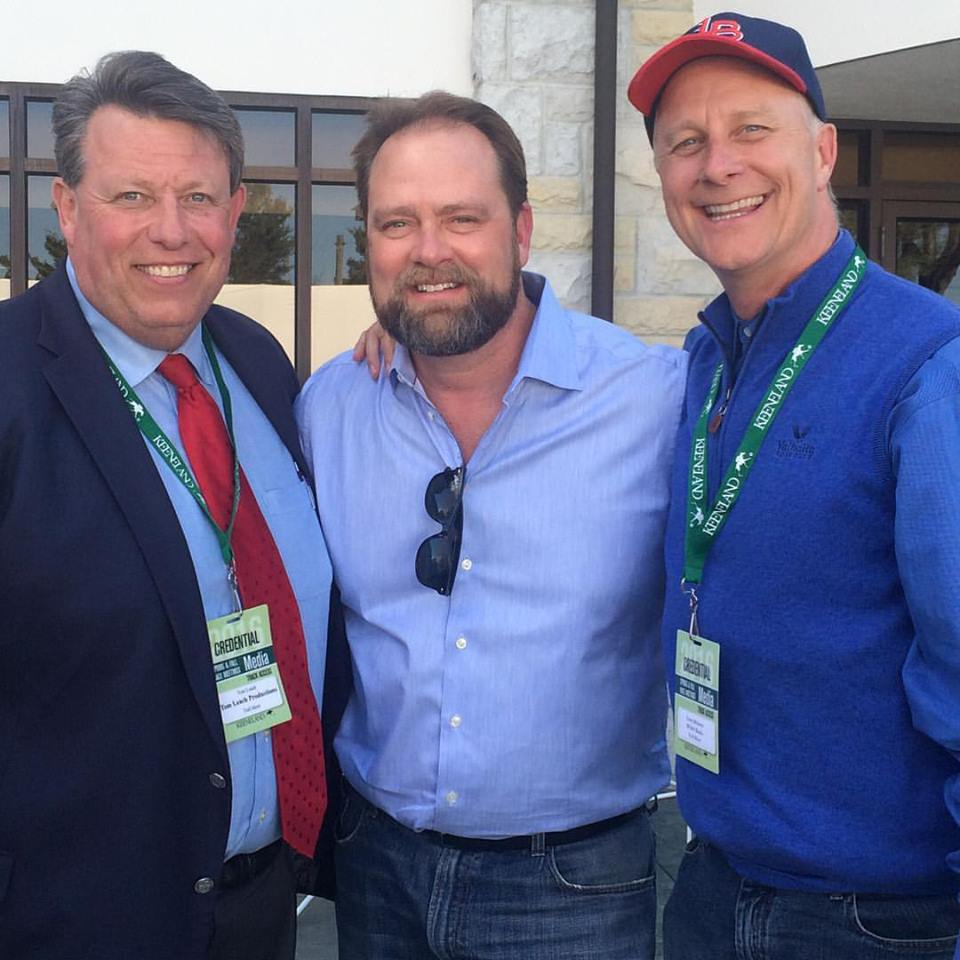 Tom Leach, Doug O'Neill, and Terry Meiners at Keeneland, April 15, 2016