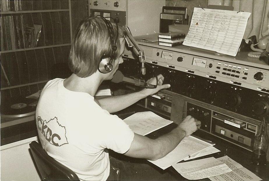 Terry Meiners, WKQQ studio (1977)