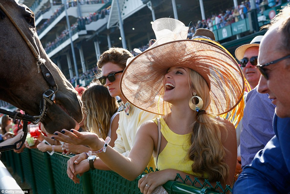 Even the horses understand that they're secondary to the fashion and flair of the Kentucky Derby experience. (Getty photo)