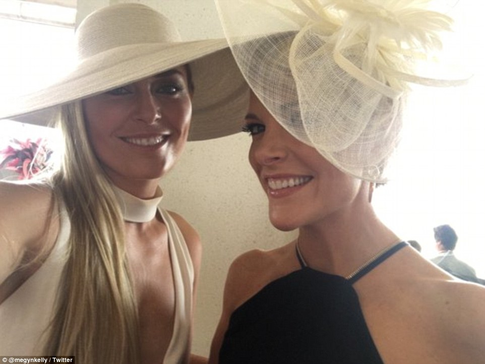 Fox News host Megan Kelly tweeted this selfie with world class skier Lindsey Vonn