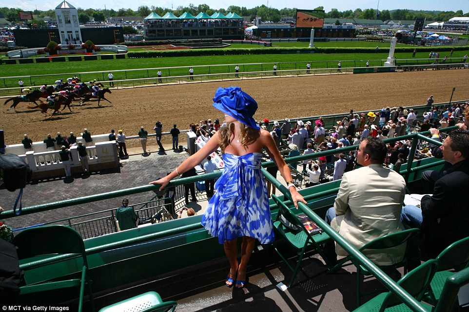 Beautiful women.  Fast horses.  Welcome to Kentucky.  (Getty photo)