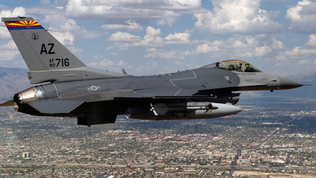 a typical F-16 used by Arizona Air National Guard