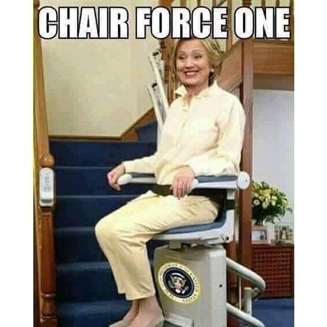 hillary chair force one