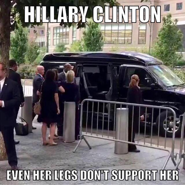 hillary clinton legs dont support her
