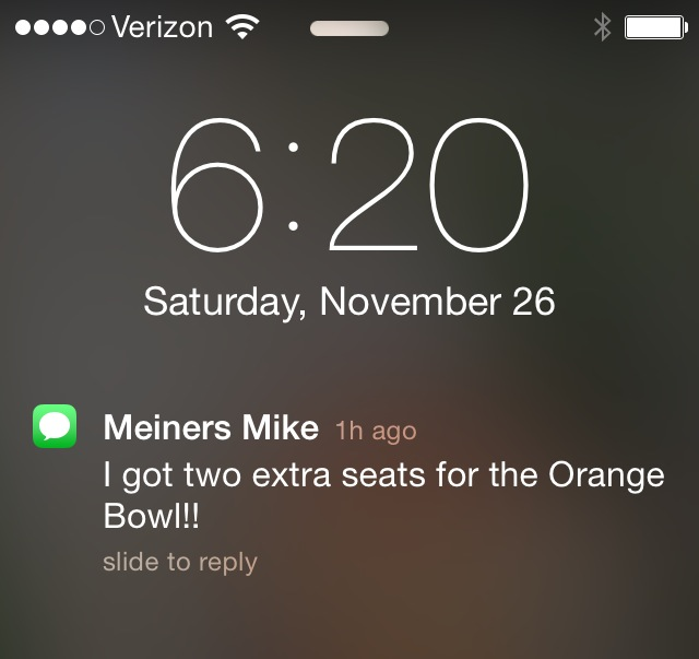 mike text