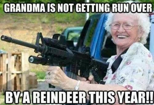 grandma armed