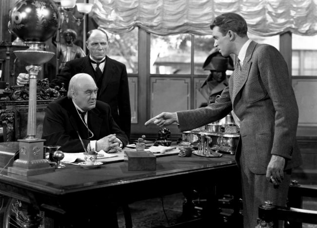 "Lionel Barrymore and James Stewart ""It's a Wonderful Life"" (1939)"