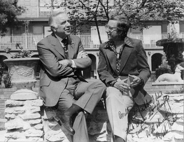 CBS Evening News anchor Walter Cronkite  with Milton Metz in Louisville