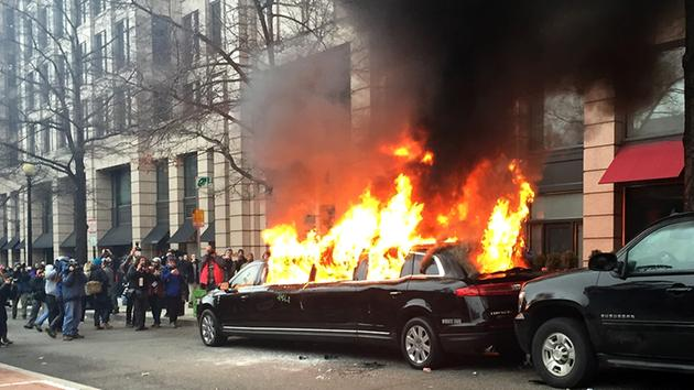 violence and destruction marred some of the DC protests on inauguration day 2017
