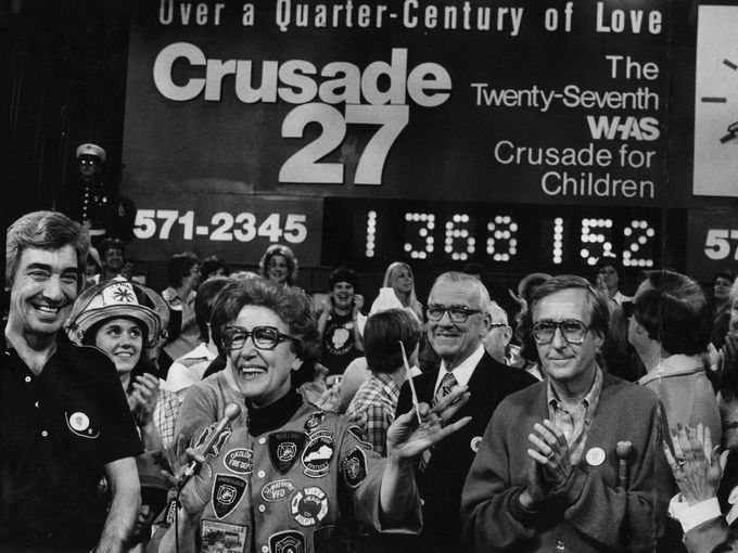 1980 WHAS Crusade for Children with Wayne Perkey, Phyllis Knight, Jim Walton, and Milton Metz