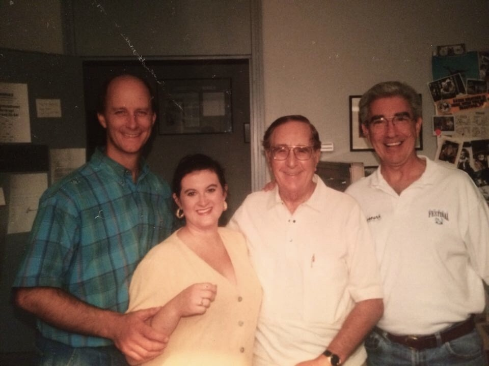 Terry Meiners, intern Kyle Shepard, Milton Metz, and Wayne Perkey (1990s)