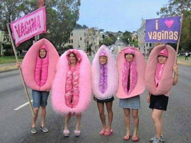 women in vagina costumes
