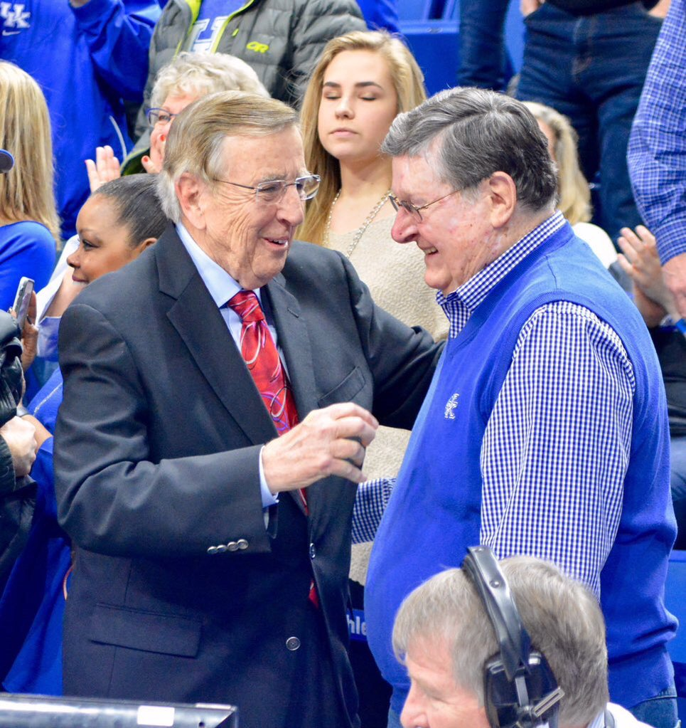 Brent Musburger & Joe B Hall (photo: kentucky.com)