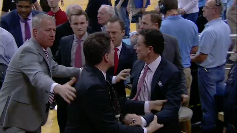 pitino angered by UNC heckler