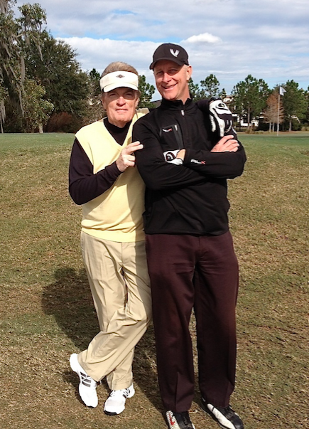 WCBS-FM morning man Scott Shannon & WHAS-AM afternoon host Terry Meiners at Lake Nona, Florida (2014)