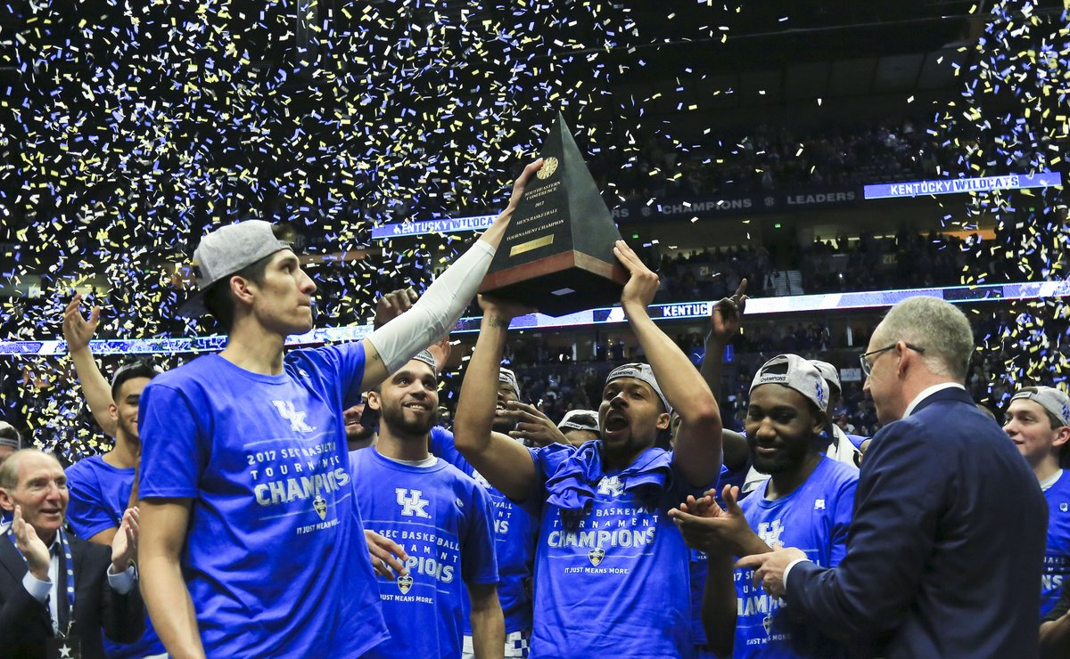 UK wins the SEC Tourney for the 30th time (photo: Matt Stone, The Courier-Journal)