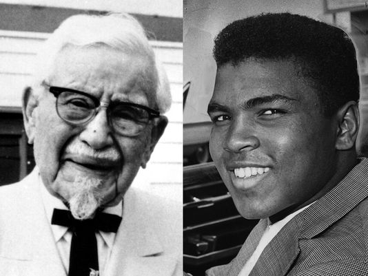 "Harland ""Colonel"" Sanders and Muhammad Ali"