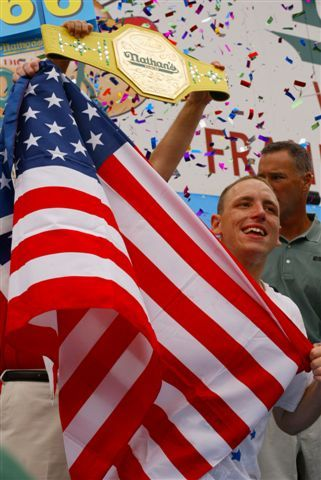 Joey Jaws Chestnut will go for his 10th Mustard Belt at this year's Nathan's World Famous Hot Dog eating contest on Coney Island.