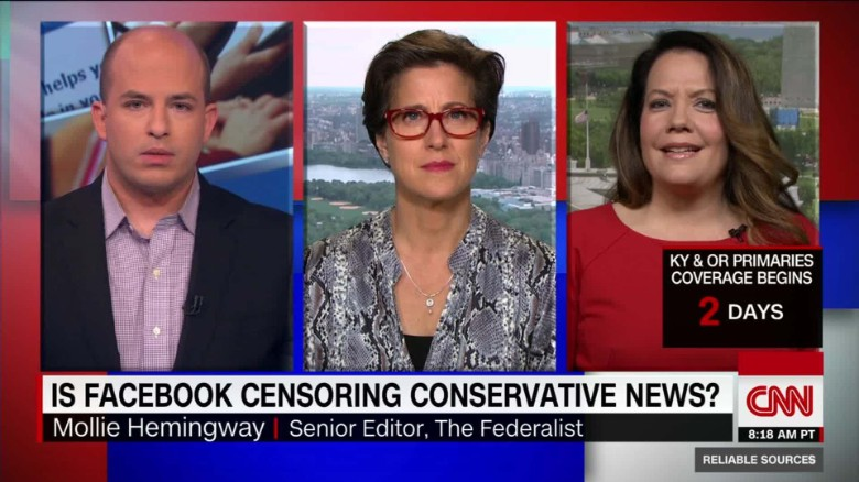 CNN facebook censoring conservatives
