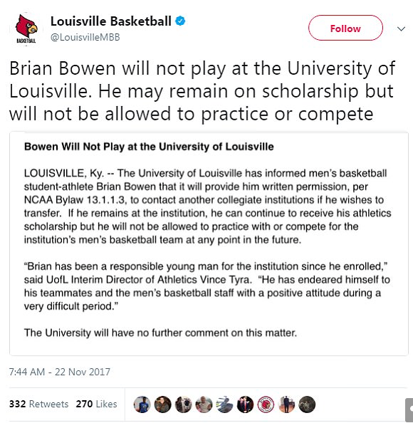 release date: eba77 23947 Johnson was terminated likely as another illustration by the school to the  NCAA that it was cleaning house of the entire Rick Pitino leadership team,  ...